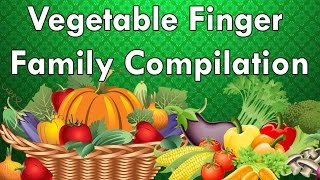 Vegetables Finger Family Compilation | Learn Vegetables