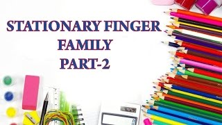 Stationary Finger Family - Part 2 | Popular Nursery Rhymes for Kids