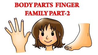 Body Parts Finger Family - 2 | Learn Human Body Parts