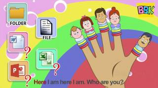 Computer Finger Family | Nursery Rhymes And Children's Songs