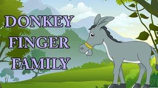 Donkey Finger Family   Animal Finger Family