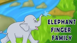 Elephant Finger Family | Animal Finger Family