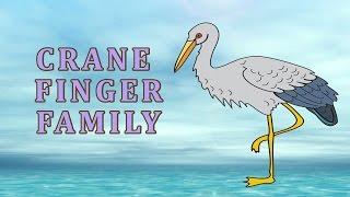 Crane Finger Family | Animal Finger Family