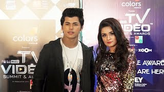 Avneet Kaur And Siddharth Nigam At Colors TV Awards | Colors IWMBuzz TV Awards 2019