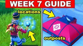Fortnite ALL Season 7 Week 7 Challenges Guide! Fortnite Battle Royale - Outposts, Rifts Locations