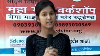 Science D'vine Maha Medha Workshop_29 Sept Indore Testimonial Part 4
