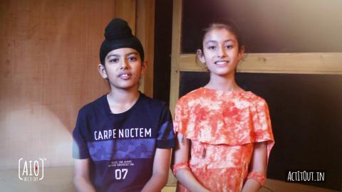 Harshmeet & Mehakdeep - Child Actors Testimonial | experience with AIO App! | Act It Out | RFE