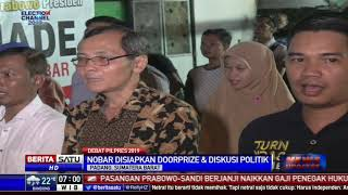 Relawan Milenial Prabowo-Sandi Gelar Nobar Debat di Padang
