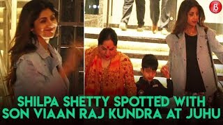 Shilpa Shetty Spotted With Son Viaan Raj Kundra At Juhu