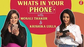 Monali Thakur and Krishika Lulla have fun while playing 'Guess The Celeb'