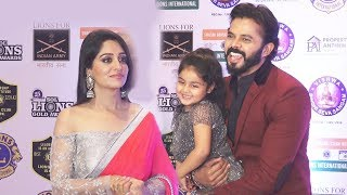 Dipika Kakar And Sreesanth Together At Lions Gold Award 2019 Red Carpet
