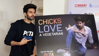 Kartik Aaryan At Launch Of Newest Vegetarian Campaign In Support Of Peta