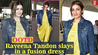 Raveena Tandon SPOTTED At Airport In New Look