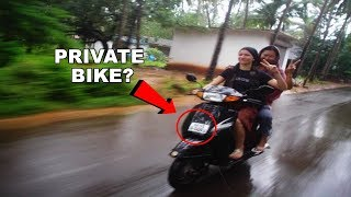 Tourist Are Given Private Vehicles Under The name Of Rent-A-Bike?