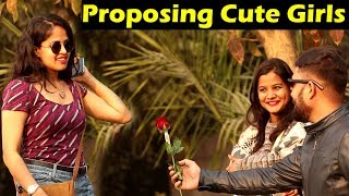 PROPOSING CUTE GIRLS PRANK | Part 2 | Unglibaaz