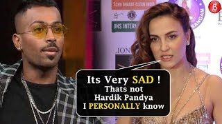 Elli Avram REACTS On Hardik Pandyas Koffee With Karan Controversy