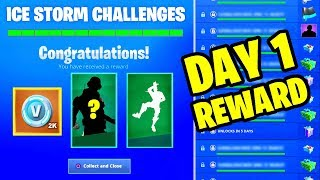 DESTROY ICE FIENDS AND ICE LEGION LOCATION - ICE STORM CHALLENGES DAY 1 FREE REWARDS IN FORTNITE