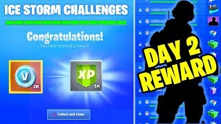 DESTROY ICE BRUTES LOCATION - ICE STORM CHALLENGES DAY 2 FREE REWARDS IN FORTNITE