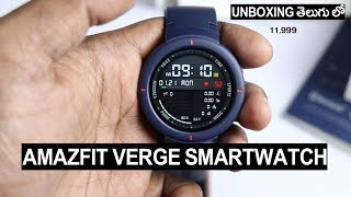 Amazfit Verge Smartwatch for Rs 11,999 Unboxing  Review Telugu