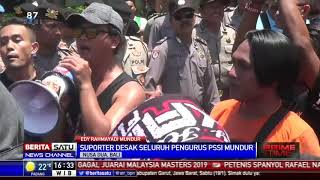 Suporter Gabungan Desak Seluruh Pengurus PSSI Mundur