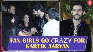 Fan Girls Go CRAZY for Kartik Aaryan at Student Of The Year 2 wrap up party