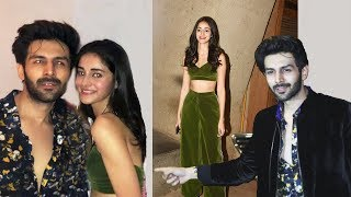 Pati Patni Aur Woh Star Ananya Pandey And Kartik Aaryan At Punit Malhotra's Bash