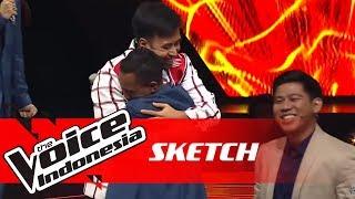 Ini Ekspresi Ronald Di-Steal Coach Vidi dan Nino | SKETCH | The Voice Indonesia GTV 2018