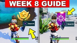 Fortnite ALL Season 7 Week 8 Challenges Guide! Mysterious Hatch, Giant Rock Lady, Precarious Flatbed