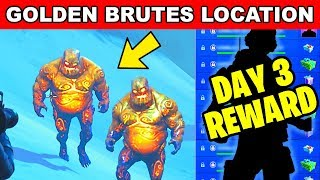 DESTROY GOLDEN ICE BRUTES LOCATION - ICE STORM CHALLENGES DAY 3 FREE REWARDS IN FORTNITE