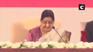 Pravasi Bharatiya Divas- EAM Swaraj boasts of Indian-origin leaders across world