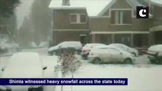 Snow spell hits hills, heavy snowfall occurs in J&K and Uttarakhand