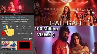 #KGF Hindi Song Gali Gali Mein Crosses 100 Million VIEWS Record On YOUTUBE