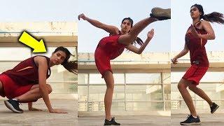 Disha Patanis LIVE STUNTS | High Kick Stunt | Bharat | Watch Video