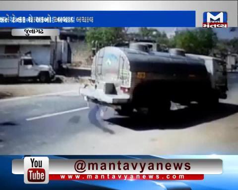 Junagadh: Truck Driver saved Calf with his driving skills