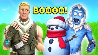becoming a Sneaky Snowman in fortnite (IT WORKED)
