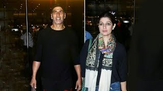 Akshay Kumar And Twinkle Khanna Spotted At Mumbai Airport