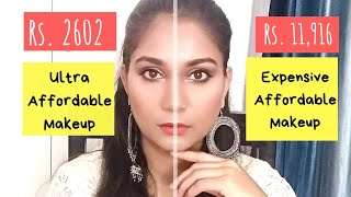 Ultra Affordable Makeup Vs Expensive/Desirable  Affordable Makeup | Nidhi Katiyar