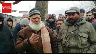 In Video | PDD Daily Wagers Stage protestin Karnah Kupwara demand regularization