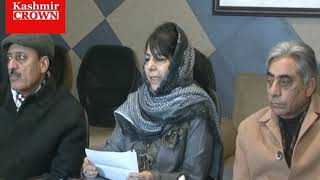 PDP chief Mehbooba Mufti press conference