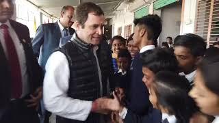 Congress President Rahul Gandhi visit Alfa Convent School in Salon
