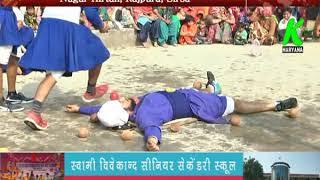 राजपुरा में नगर किर्तन के दौरान गतका पार्टी ने जान पर खेलकर की कलाबाजी