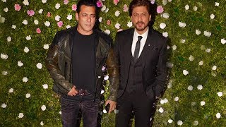 Salman Khan And Shahrukh Khan At Raj Thackeray Son Amit Thackeray's Wedding Reception