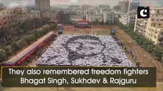 Over 3500 students of Pune's Zeal education society create portrait of tricolour flag