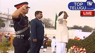 Telangana CM KCR Tribute To Martyrs | Telangana Republic Day Celebrations Parade Ground Hyderabad