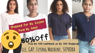 Rs.20k NNNOW Haul | ELLE, Flying Machine, GAP & More | 50% to 80% off | Rs. 420 cashback on Rs. 500