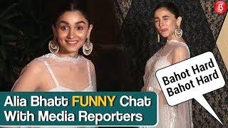 Alia Bhatt FUNNY Chat With Media Reporters at Sakshi Bhatt's Wedding