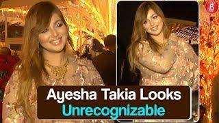 Ayesha Takia Looks UNRECOGNIZABLE At Prateik Babbar's Wedding Reception