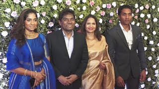 Johnny Lever With Family At Raj Thackeray Son Amit Thackeray's Wedding Reception