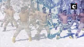ITBP jawans practice martial arts at 11000 feet in Uttarakhand's Auli
