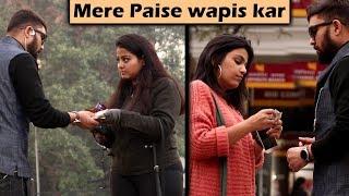 Asking Cute Girls Sau ka chutta hai   Prank with a Twist   Unglibaaz